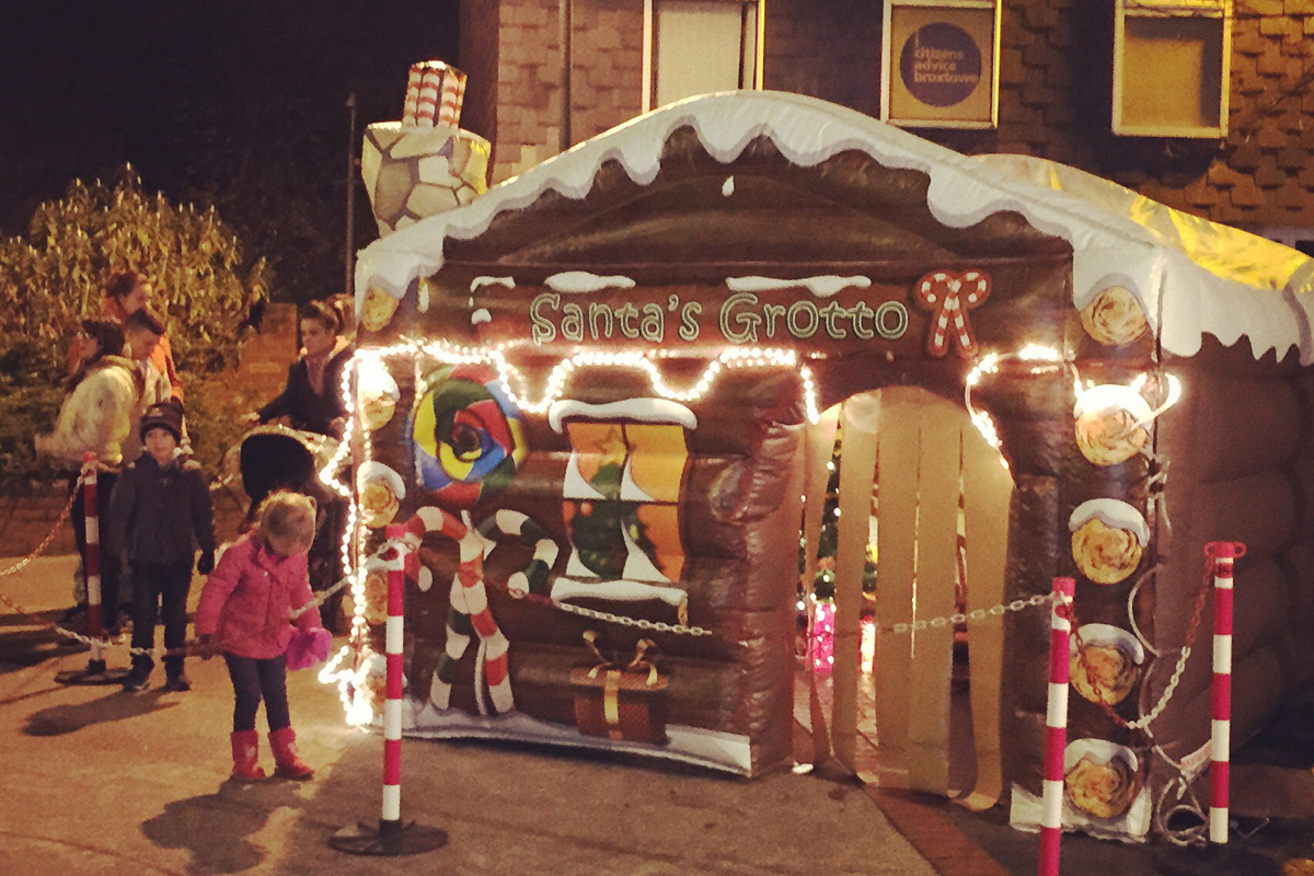 The Joker Entertainment providing Santa's Grottos in the Midlands, Nottingham, Lincoln, Leicestershire, Boston, Sleaford. Services include Santa Claus, Elves and Santa's Grotto Photo Service