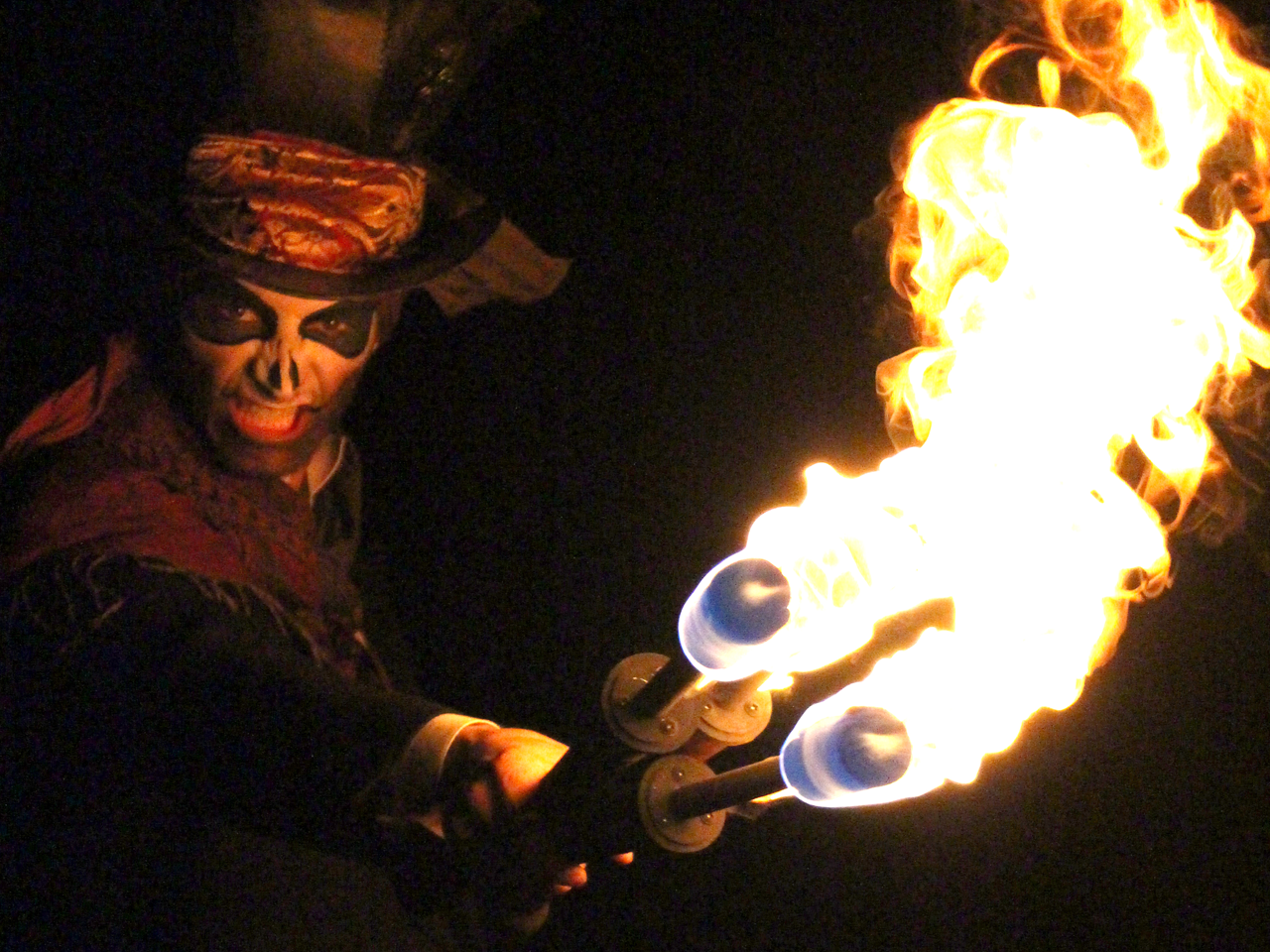 The Joker Entertainment providing entertainment for Halloween. Specialising with Fire Entertainment, Fire Juggling, Glow and scary characters, walkabout entertainment.