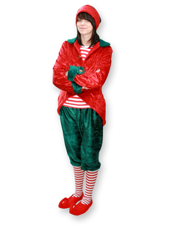 Candy cane the elf, multi skilled clown entertainer The Joker Entertainment providing circus entertainment, circus skills, stilt walking, balloon modelling, participation activity's and face painting in the Midlands, Nottinghamshire, Yorkshire, Leicestershire, Lincolnshire