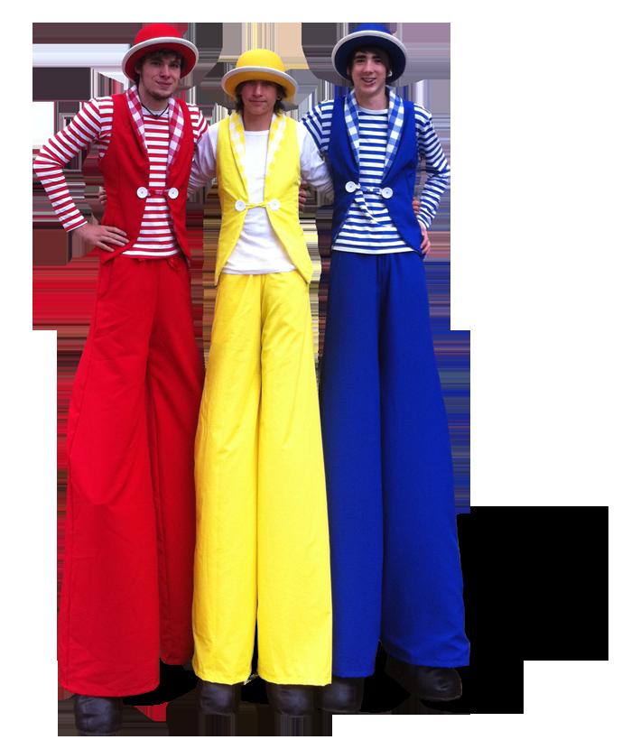 The Joker Entertainment providing Stilt Walkers, stilt walking in the Midlands, Nottingham, Nottinghamshire, Leicester, Leicestershire