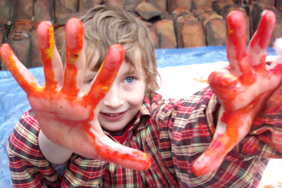 Messy hand and feet painting, finger painting, Craft Workshop, Art and Crafts Boston, Sleaford, Lincolnshire, Lincoln, Newark, Nottinghamshire, Rutland, Northampton, South Yorkshire, have a go