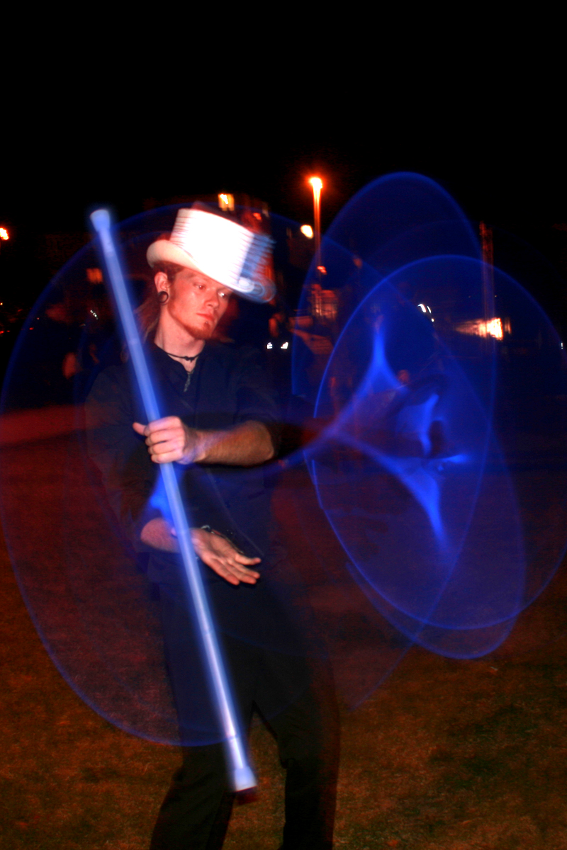 Glow Entertainer, Glow Entertainment and Glow Jugglers from The Joker Entertainment at Public Events and Weddings, great for Christmas entertainment, bonfire night entertainment and Halloween entertainment in the Midlands, Nottinghamshire, Lincolnshire, Rutland, Northamptonshire, South Yorkshire and Derbyshire