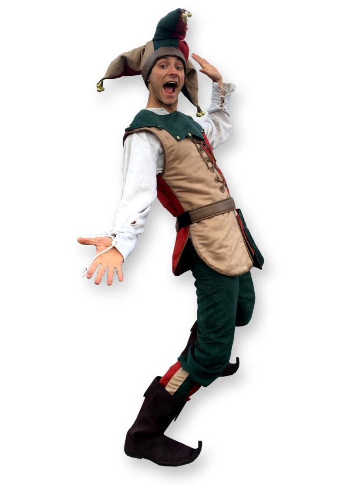 Ye ol jester, multi skilled clown entertainer The Joker Entertainment providing circus entertainment, circus skills, stilt walking, balloon modelling, participation activity's and face painting in the Midlands, Nottinghamshire, Yorkshire, Leicestershire, Lincolnshire