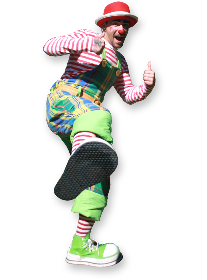 mashed potato the clown multi skilled clown entertainer The Joker Entertainment providing circus entertainment, circus skills, stilt walking, balloon modelling, participation activity's and face painting in the Midlands, Nottinghamshire, Yorkshire, Leicestershire, Lincolnshire