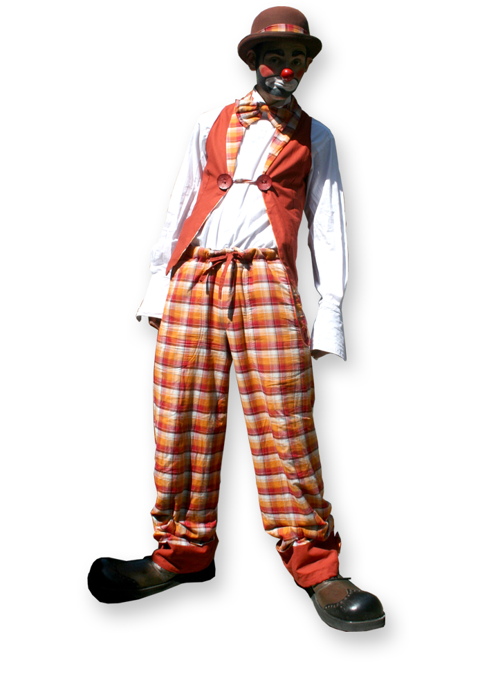 Rags the clown multi skilled clown entertainer The Joker Entertainment providing circus entertainment, circus skills, stilt walking, balloon modelling, participation activity's and face painting in the Midlands, Nottinghamshire, Yorkshire, Leicestershire, Lincolnshire